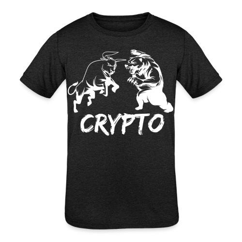 CryptoBattle White - Kids' Tri-Blend T-Shirt