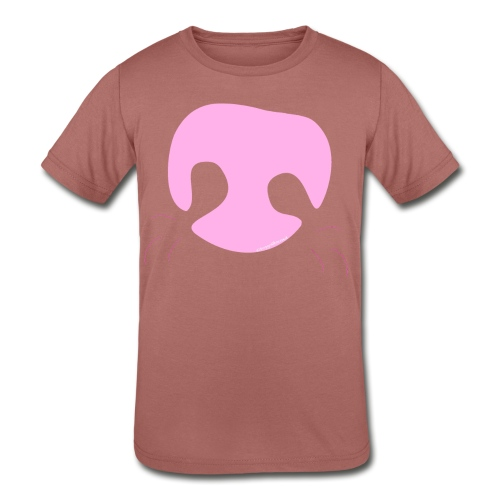 Pink Whimsical Dog Nose - Kids' Tri-Blend T-Shirt