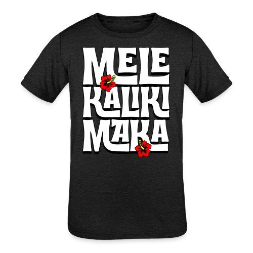 Mele Kalikimaka Hawaiian Christmas Song - Kids' Tri-Blend T-Shirt
