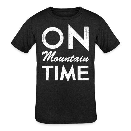 On Mountain Time - Kids' Tri-Blend T-Shirt