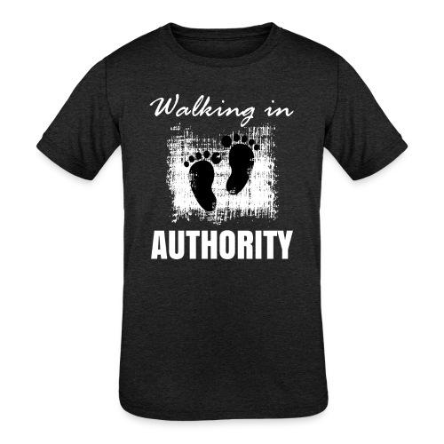 Walking in authority - Kids' Tri-Blend T-Shirt