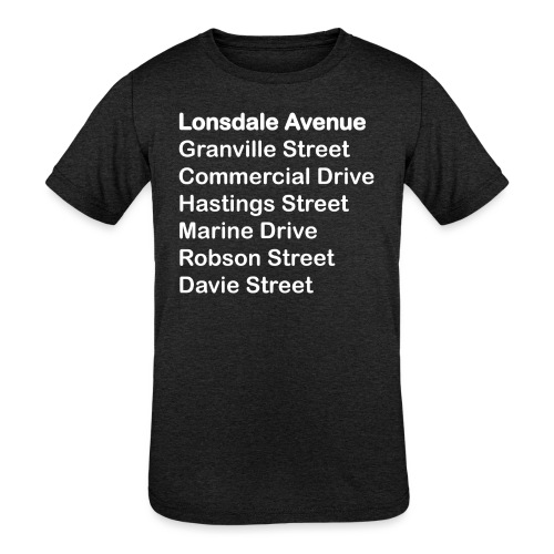 Street Names White Text - Kids' Tri-Blend T-Shirt