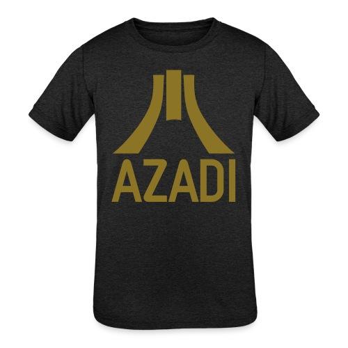 Azadi retro stripes - Kids' Tri-Blend T-Shirt