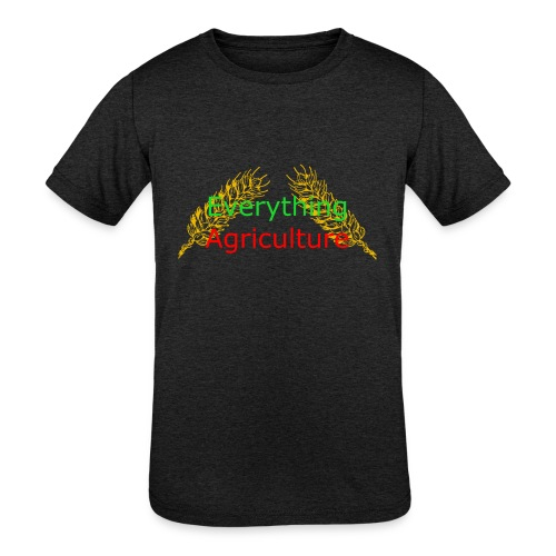 Everything Agriculture LOGO - Kids' Tri-Blend T-Shirt