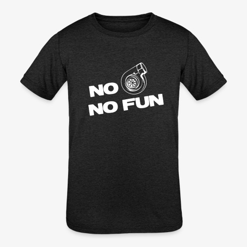 No turbo no fun - Kids' Tri-Blend T-Shirt