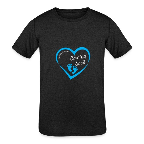 Baby coming soon - Kids' Tri-Blend T-Shirt