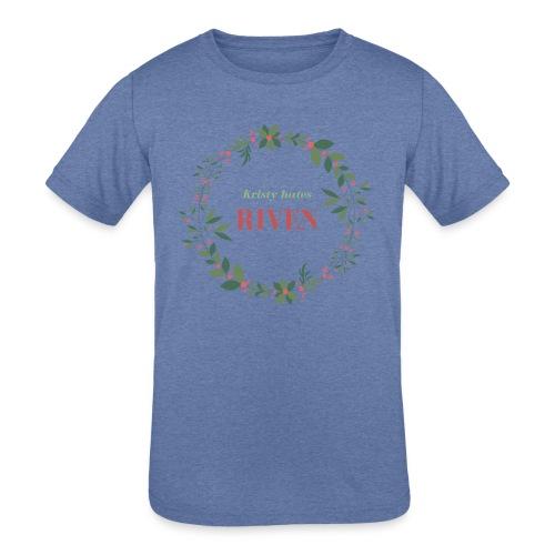 Kristy hates Riven - Kids' Tri-Blend T-Shirt