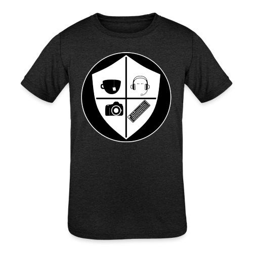 Punk Who Drinks Tea Crest (Inverted) - Kids' Tri-Blend T-Shirt