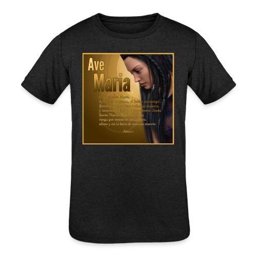 Ave María - La oración en español - Kids' Tri-Blend T-Shirt