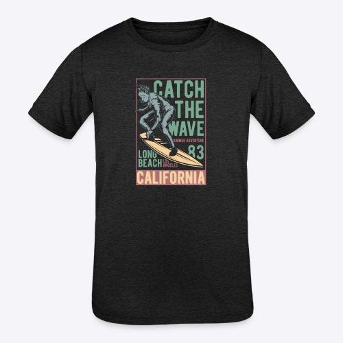 Catch The Wave - Kids' Tri-Blend T-Shirt
