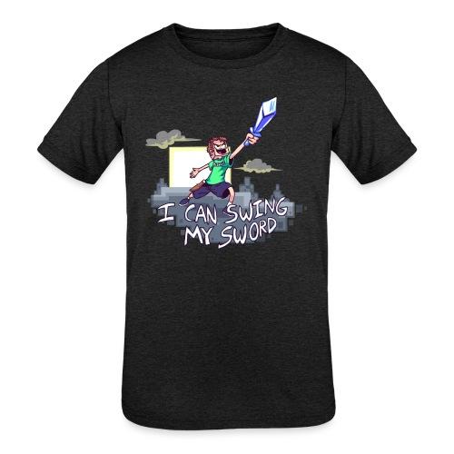 I Can Swing My Sword - Kids' Tri-Blend T-Shirt