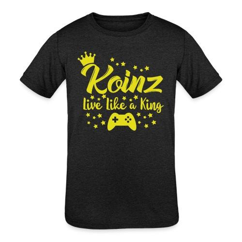 Live Like A King - Kids' Tri-Blend T-Shirt