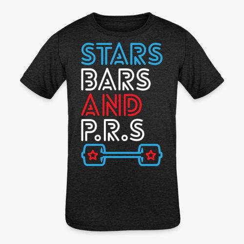 Stars, Bars And PRs - Kids' Tri-Blend T-Shirt