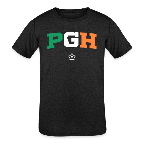 Block PGH - Irish Flag - Kids' Tri-Blend T-Shirt