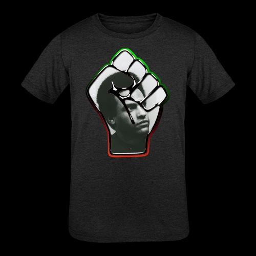 Huey Newton RBG Fist - Kids' Tri-Blend T-Shirt