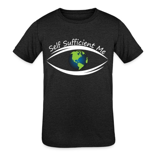 Self Sufficient Me Logo Large - Kids' Tri-Blend T-Shirt