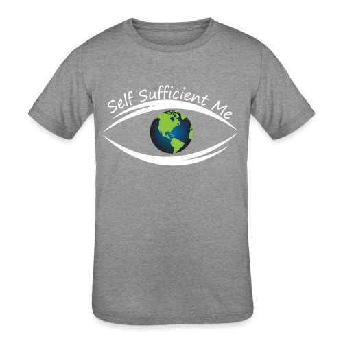 Self Sufficient Me Logo Large - Kids' Tri-Blend T-Shirt