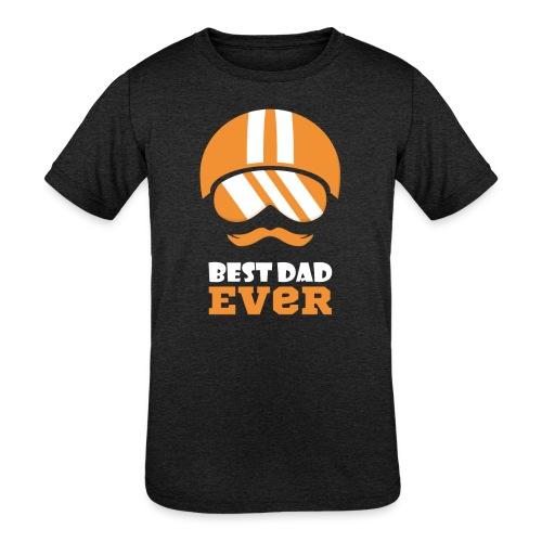 Best Motorcycle Dad Ever, Best Dad Ever - Kids' Tri-Blend T-Shirt