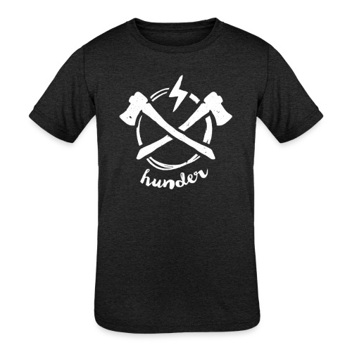 woodchipper back - Kids' Tri-Blend T-Shirt