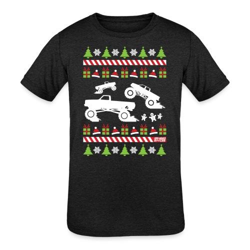 Mud Truck Ugly Christmas - Kids' Tri-Blend T-Shirt