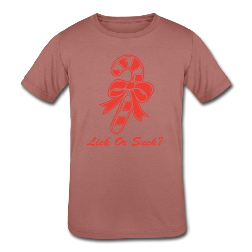 Lick Or Suck Candy Cane - Kids' Tri-Blend T-Shirt