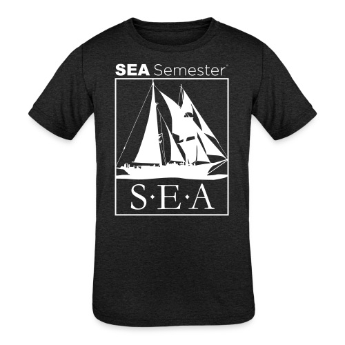 SEA_logo_WHITE_eps - Kids' Tri-Blend T-Shirt