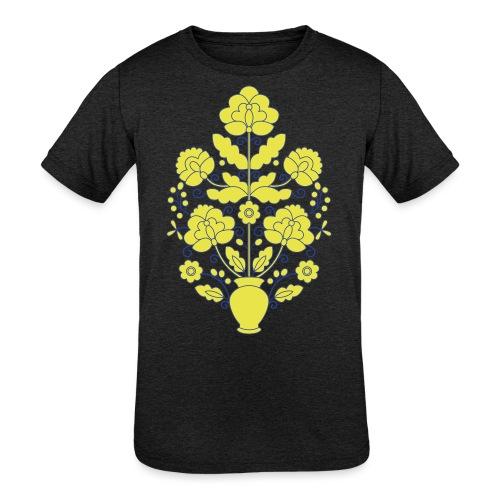 Tree of Life on White - Kids' Tri-Blend T-Shirt