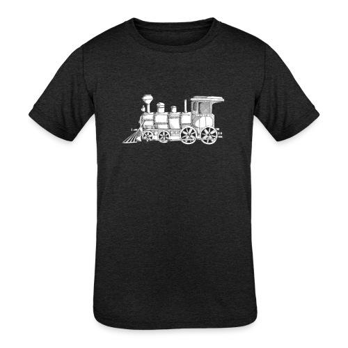 steam train - Kids' Tri-Blend T-Shirt