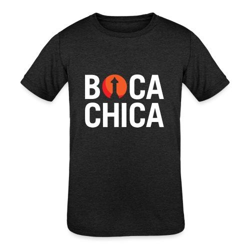 Boca Chica Starship Mars Silhouette - Kids' Tri-Blend T-Shirt