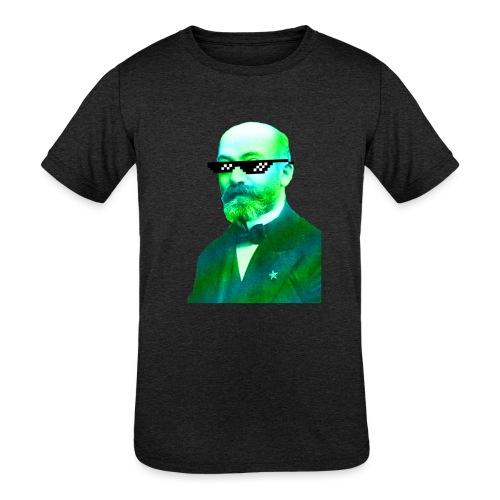Green and Blue Zamenhof - Kids' Tri-Blend T-Shirt