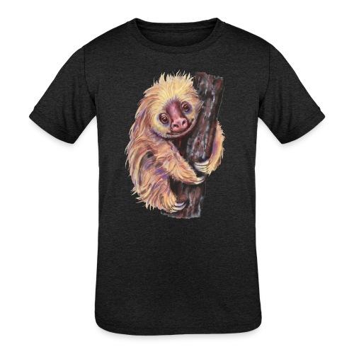 Sloth - Kids' Tri-Blend T-Shirt