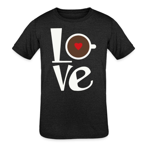 Love Coffee - Kids' Tri-Blend T-Shirt