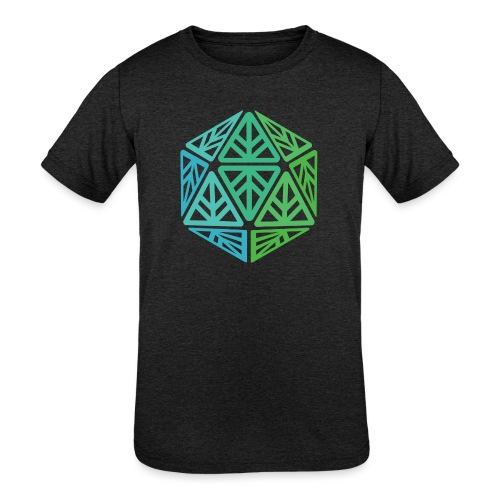 Green Leaf Geek Iconic Logo - Kids' Tri-Blend T-Shirt