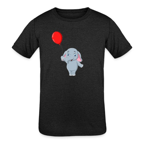Baby Elephant Holding A Balloon - Kids' Tri-Blend T-Shirt