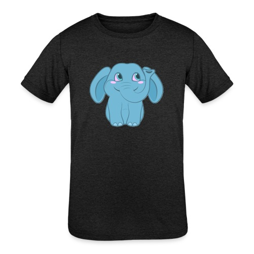Baby Elephant Happy and Smiling - Kids' Tri-Blend T-Shirt