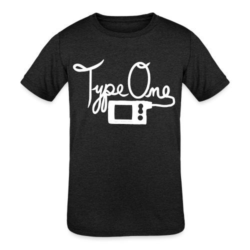 Type One - Insulin Pump 2- White - Kids' Tri-Blend T-Shirt