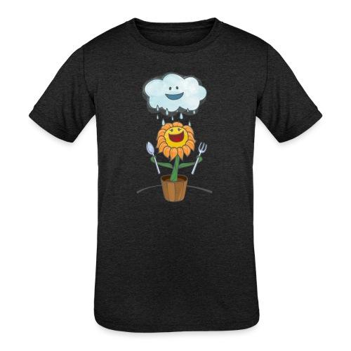 Cloud & Flower - Best friends forever - Kids' Tri-Blend T-Shirt