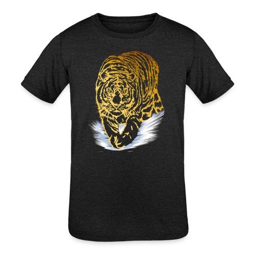 Golden Snow Tiger - Kids' Tri-Blend T-Shirt