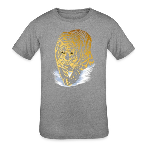 Golden Snow Tiger - Kids' Tri-Blend T-Shirt