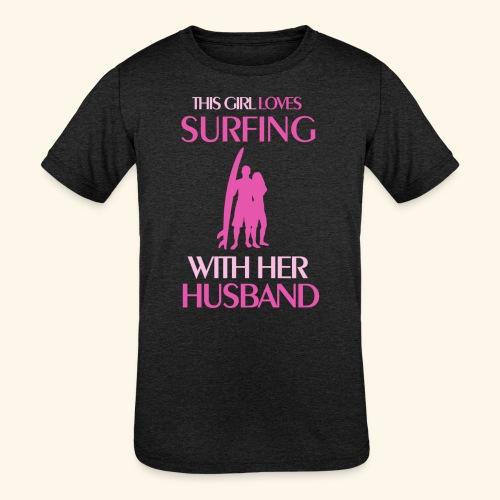 Surf Shirts Womens for Men, Women, Kids, Babies - Kids' Tri-Blend T-Shirt