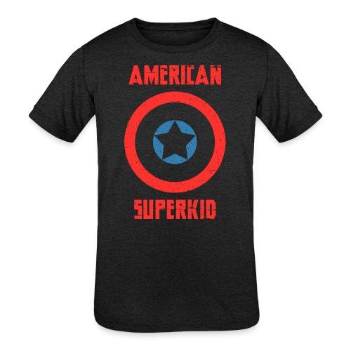 American Superkid - Kids' Tri-Blend T-Shirt