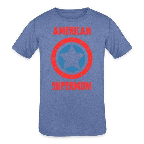 American Supermom - Kids' Tri-Blend T-Shirt