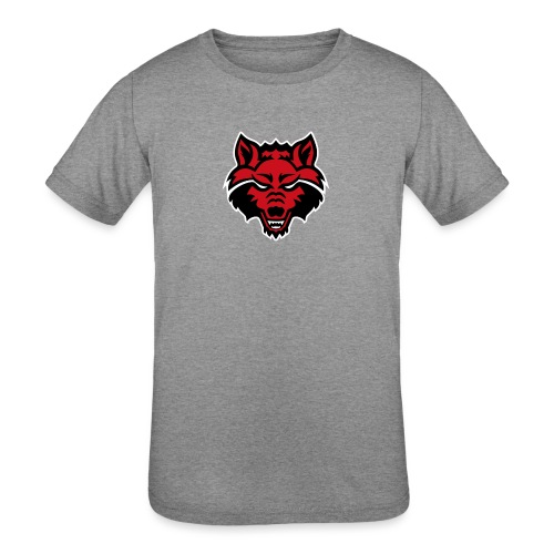 Red Wolf - Kids' Tri-Blend T-Shirt