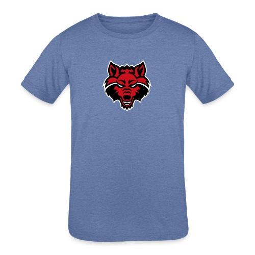Red Wolf - Kids' Tri-Blend T-Shirt