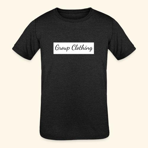 Cursive Black and White Hoodie - Kids' Tri-Blend T-Shirt