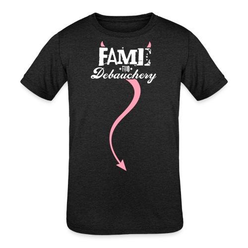 Fame from Debauchery - Kids' Tri-Blend T-Shirt
