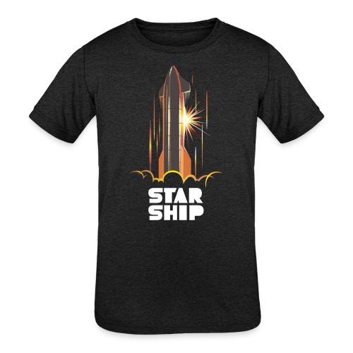 Star Ship Mars - Dark - Kids' Tri-Blend T-Shirt