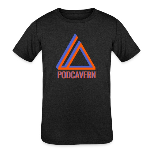 PodCavern Logo - Kids' Tri-Blend T-Shirt
