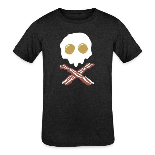 Breakfast Skull - Kids' Tri-Blend T-Shirt