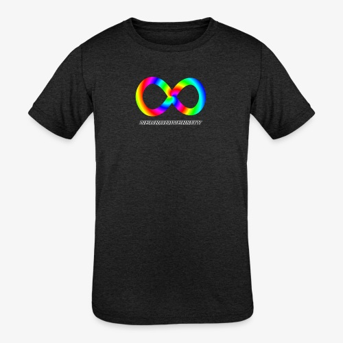 Neurodiversity with Rainbow swirl - Kids' Tri-Blend T-Shirt